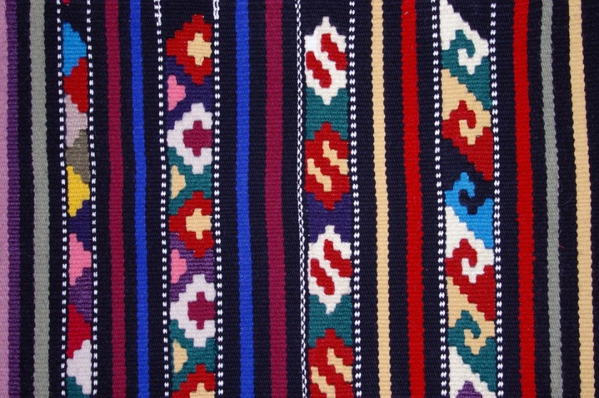 Colors Raster Textiles Red Tkanica Etno Blue